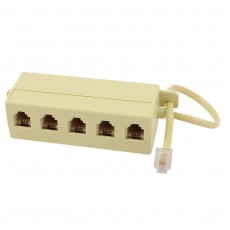 5 Way RJ11 Phone Splitter - ADSL Phone Line Splitter