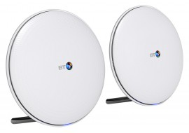 BT Whole Home Wi-Fi Network Mesh Pack for Seamless Home Wireless Coverage - Pack of 2