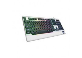 Illuminated USB Backlit Multimedia Gaming Keyboard White