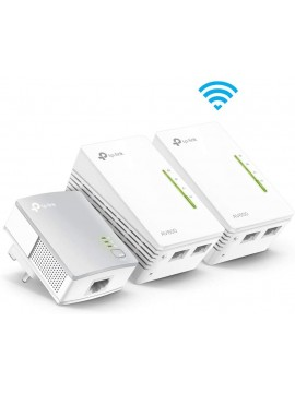 TP-Link TL-WPA4220T KIT 2-Port Powerline Adapter WiFi Starter Kit, Range Extender, Broadband/WiFi Extender, WiFi Booster/Hotspot