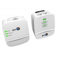 BT Mini Wi-Fi 600 Home Hotspot Powerline Adapter Kit - Pack of 2