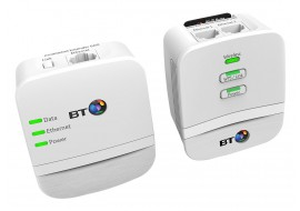 BT Home Network Plug - Mini Wi-Fi 600 Home Powerline Adapter Kit - Pack of 2