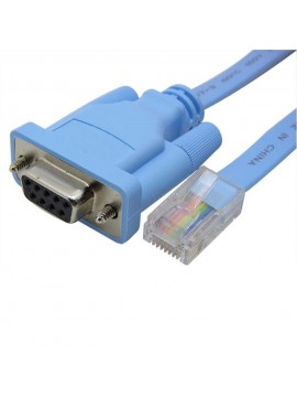 RJ45 to Female RS232 Serial DB9 9 Pin Console Cable - 72-3383-01