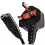 5 Meters Right Angle Figure 8 Cable C7 to UK Plug Power Cord