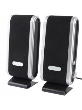 Portable USB Speakers for PC Laptop Computer Desktop USB Black Stereo Speakers System