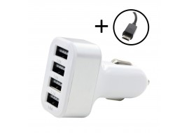 Car Charger - 4 Port USB Power Adapter 4.1A UK